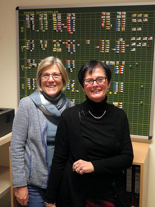 Schulleitung GS am Pilsensee: Rektorin Marion Otto (re), Konrektoren Ursula Galli (li)